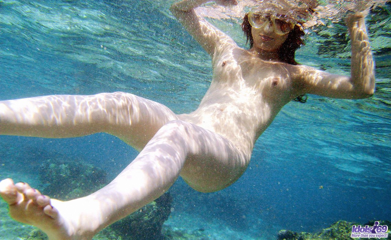 With swimming nude fish girls