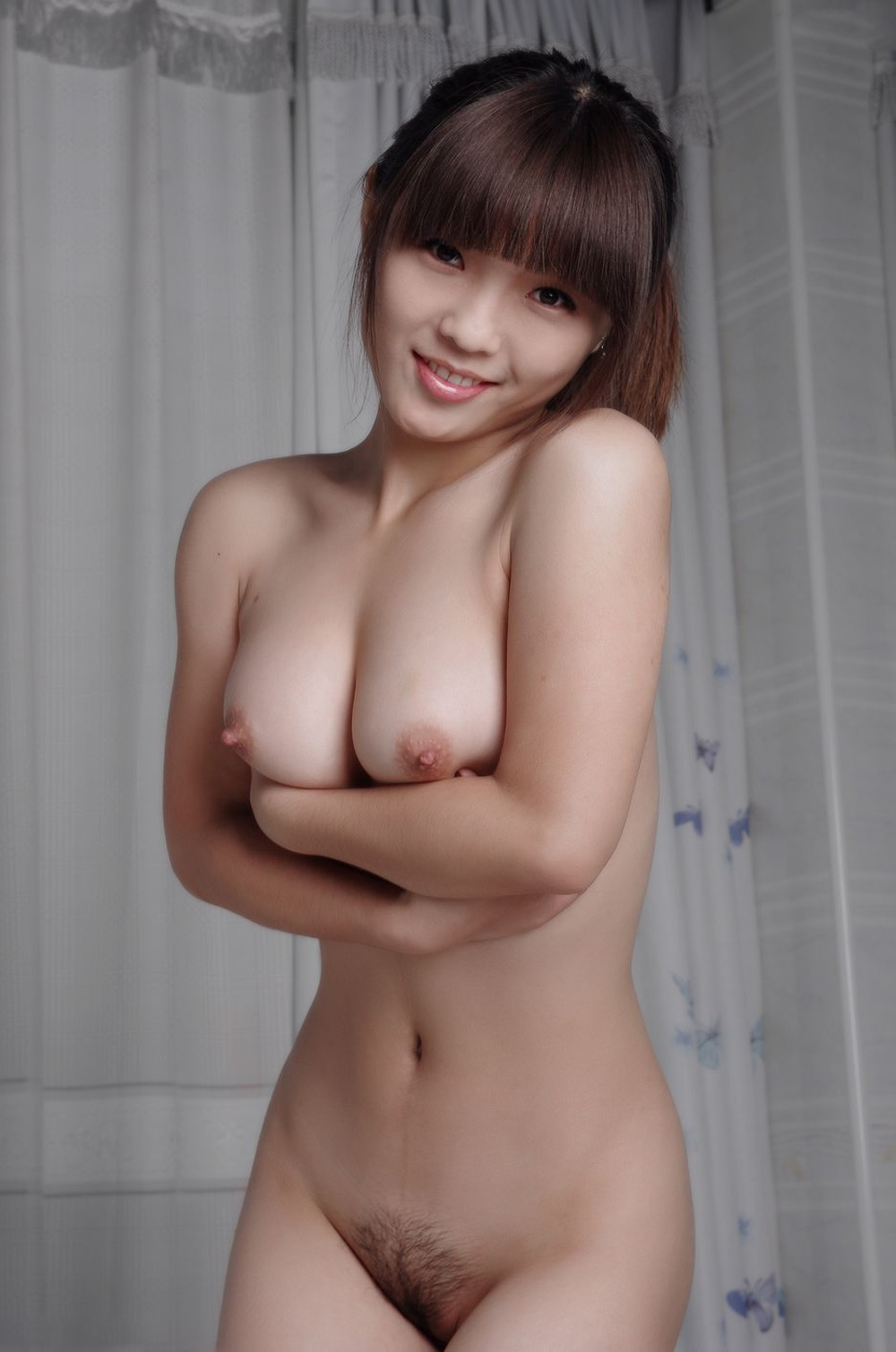 nude Perfect asian boobs