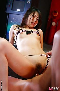 Hina Aisawa uncensored threesome sex photos