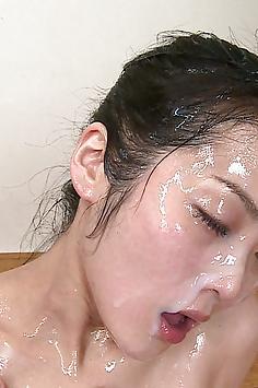 Yuria bukkake face